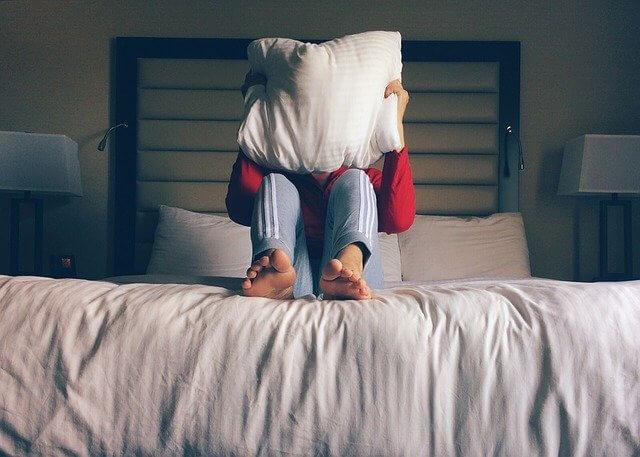 Persona no puede dormir